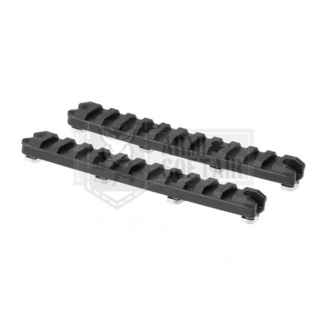 AMOEBA CAPPIA SLITTE LUNGHE IN POLIMERO 5 Inch M-LOK Plastic Rail 2-Pack NERE - AMOEBA