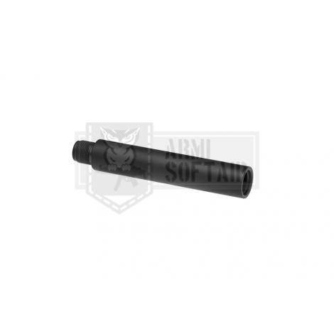 APS OUTER BARREL ALLUNGAMENTO CANNA 110 mm IN METALLO CCW NERO - APS