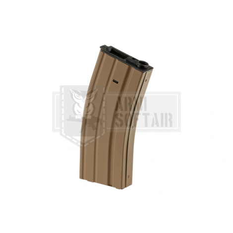 APS CARICATORE MAGGIORATO 300 bb SERIE M4 / M16 IN METALLO TAN DESERT - APS