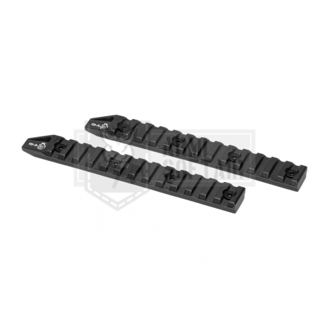 ARES SLITTE RAIL LUNGHE 6 Inch Keymod Rail 2-Pack NERE - ARES
