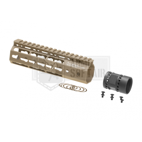 ARES FRONTALE OCTARMS M4 da 7 pollici Keymod Handguard rail Set TAN DESERT DE - ARES