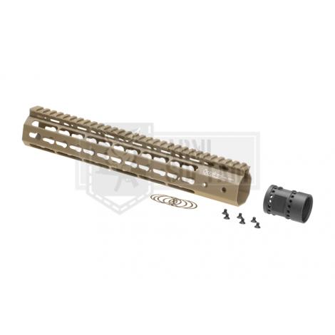 ARES FRONTALE OCTARMS M4 da 12 pollici Keymod Handguard rail Set TAN DESERT - ARES