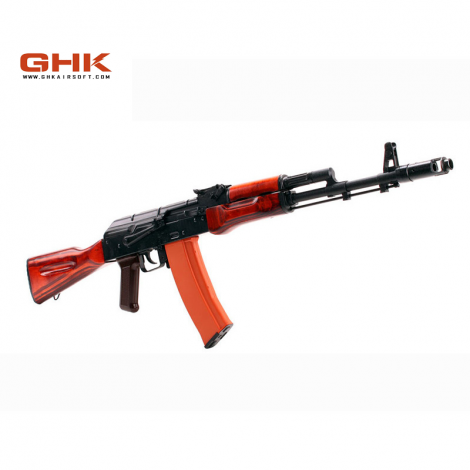 GHK AK AK74 GREEN GAS BLOWBACK GBB FULL METAL E VERO LEGNO - GHK