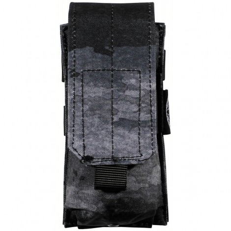 TASCA CARICATORI SINGOLA Ammu Pouch single Molle ATACS NIGHT NERO - MFH