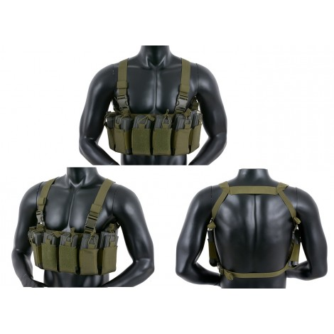 8 FIELDS TATTICO OPEN TOP CHEST RIG VERDE OD - 8 FIELDS