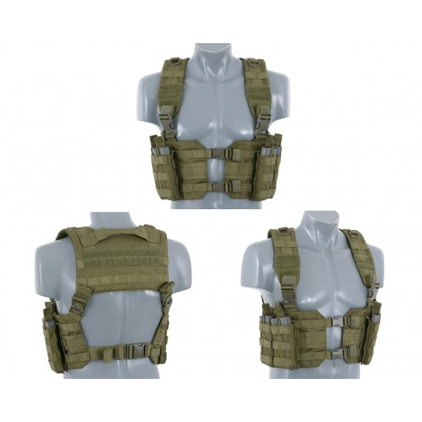 8 FIELDS TATTICO SPLIT FRONT CHEST HARNESS VERDE OD - 8 FIELDS