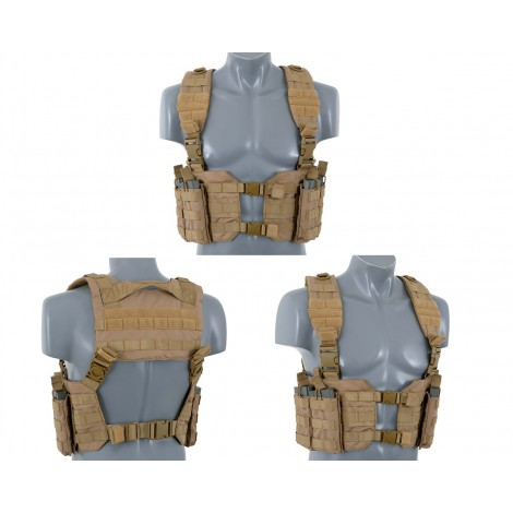 8 FIELDS TATTICO SPLIT FRONT CHEST HARNESS COYOTE CB TAN - 8 FIELDS