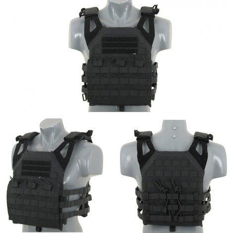 8 FIELDS TATTICO JPC JUMP PLATE CARRIER WITH DUMMY SAPI PLATES NERO BLACK - 8 FIELDS