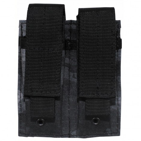 TASCA CARICATORI PISTOLA Ammo Pouch double Molle small ATACS NIGHT NERO - MFH