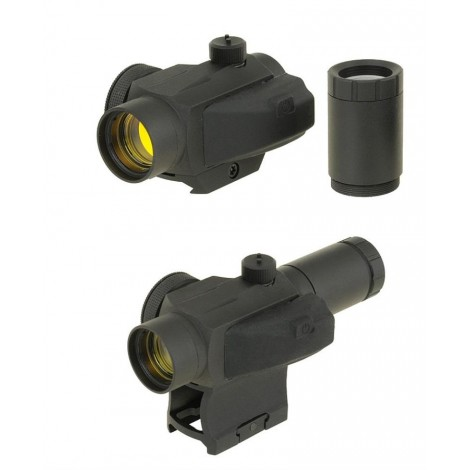 BD COMPACT RED DOT SIGHT W/ MULTI HEIGHT MOUNT SYSTEM NERO BLACK - BIG DRAGON