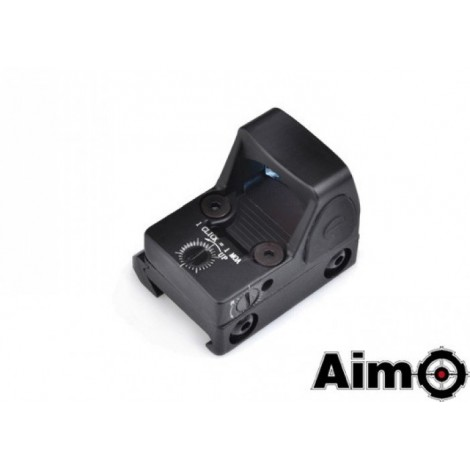 AIM-O RED DOT LED RMR MICRO PER PISTOLA CON INTENSITÀ REGOLABILE NERO - AIM-O