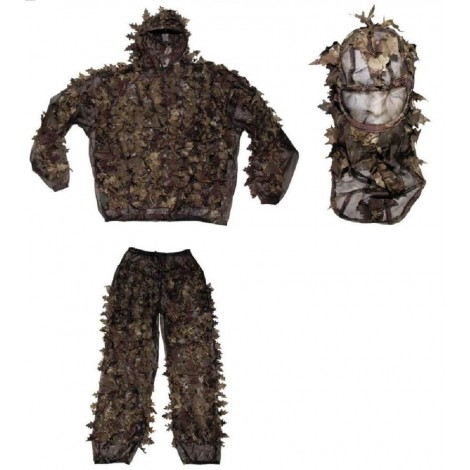 MFH GHILLIE SUIT MIMETICA 3D MOSSY HUNTER AUTUNNO XL / XXL - MFH