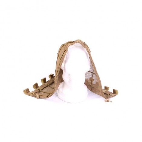 TMC TACTICAL HEAD GHILLIE RETE PER TESTA KHAKI TAN - TMC