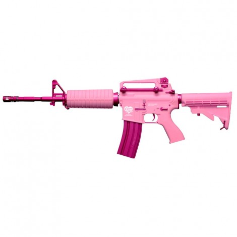 G&G FUCILE ELETTRICO ASG AEG CM15 FF15 M4A1 EBB BLOWBACK ROSA PINK - G&G