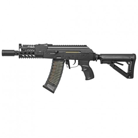 G&G FUCILE ELETTRICO ASG AEG AK74 RK74-CQB MOSFET SHORT METALLO NERO BLACK - G&G