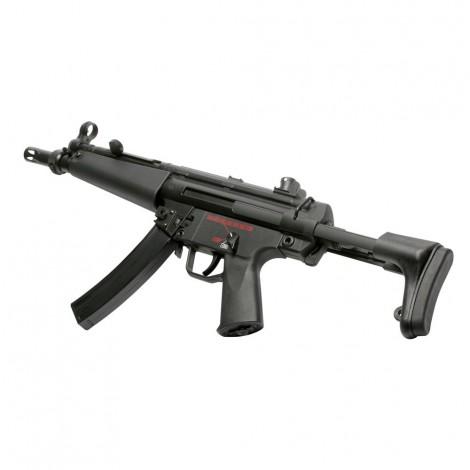 G&G FUCILE ELETTRICO ASG AEG MP5 TGM A4 CALCIO RETRATTILE EBB BLOWBACK METALLO NERO BLACK - G&G