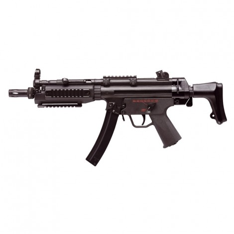 G&G FUCILE ELETTRICO ASG AEG MP5 TGM A5 RIS CALCIO RETRATTILE EBB BLOWBACK METALLO NERO BLACK - G&G