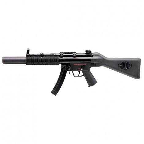 G&G FUCILE ELETTRICO ASG AEG MP5 Q5 SD6 CALCIO FISSO EBB BLOWBACK METALLO NERO BLACK - G&G