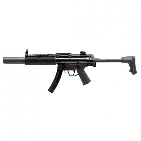 G&G FUCILE ELETTRICO ASG AEG MP5 Q5 SD6 CALCIO RETRATTILE EBB BLOWBACK METALLO NERO BLACK - G&G