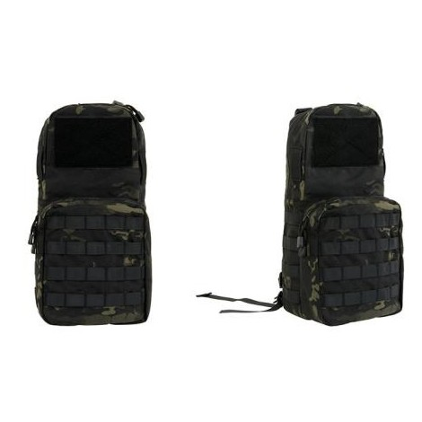 8 FIELDS ZAINETTO MINI MAP MOLLE CON SACCA DI IDRATAZIONE 2.5 L MC BLACK - 8 FIELDS