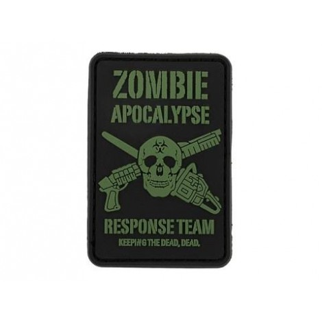 PATCH ZOMBIE APOCALYPSE PVC VELCRO PATCH -