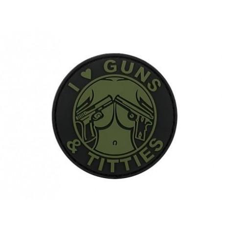 GUNS & TITTIES PVC VELCRO PATCH OD -