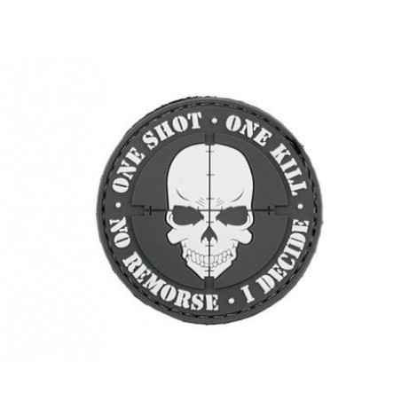 PATCH ONE SHOT ONE KILL PVC VELCRO PATCH NERA -