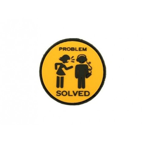 PATCH PROBLEM SOLVED PVC VELCRO PATCH -