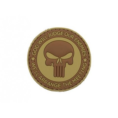 PATCH GOD WILL JUDGE PVC VELCRO PATCH 3 -