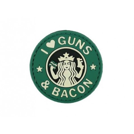 PATCH GUNS & BACON G&B PVC VELCRO PATCH -