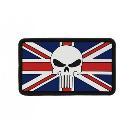 PATCH BANDIERA FLAG SKULL PINGHILTERRA UNITED KINGDOM PVC VELCRO PATCH -