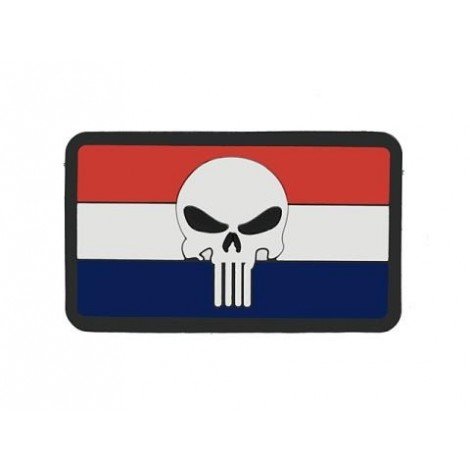 PATCH BANDIERA FLAG SKULL OLANDA PVC VELCRO PATCH -