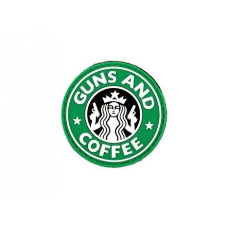 PATCH GUNS & COFFEE G&C PVC VELCRO PATCH -