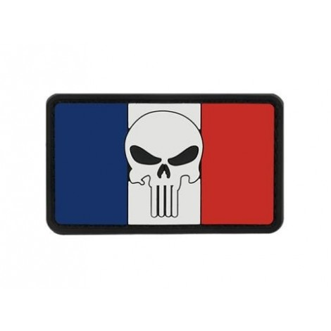 PATCH BANDIERA FLAG SKULL FRANCIA PVC VELCRO PATCH -