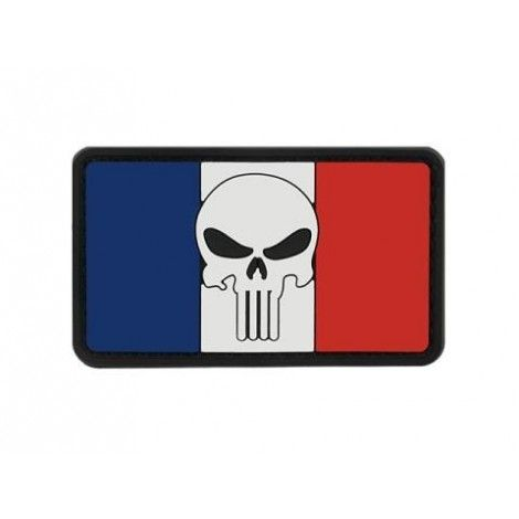 PATCH BANDIERA FLAG SKULL FRANCIA PVC VELCRO PATCH -