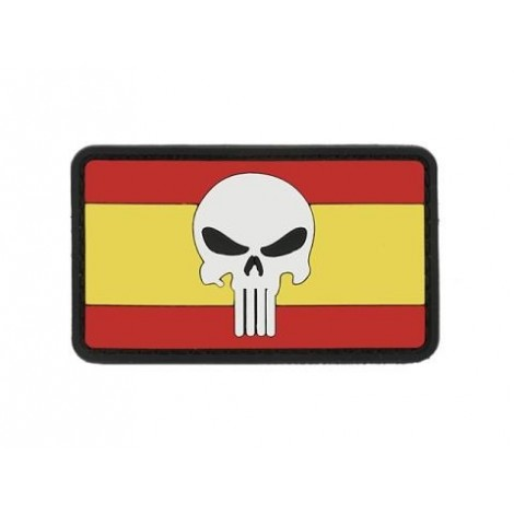 PATCH BANDIERA FLAG SKULL SPAGNA PVC VELCRO PATCH -