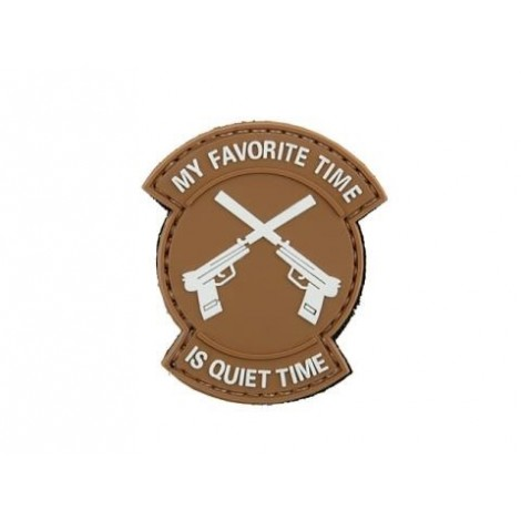 PATCH MK23 QUIET TIME PVC VELCRO PATCH TAN -