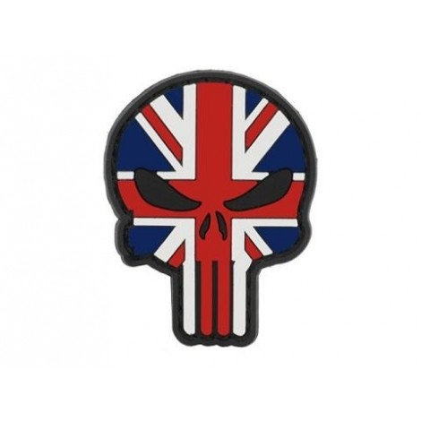 PATCH FLAG SKULL UNITED KINGDOM PVC VELCRO PATCH -