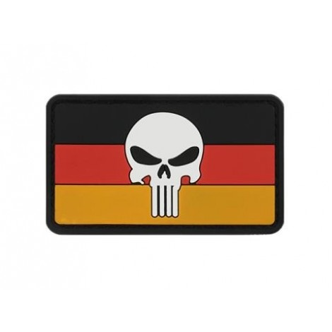PATCH BANDIERA FLAG SKULL GERMANIA PVC VELCRO PATCH -