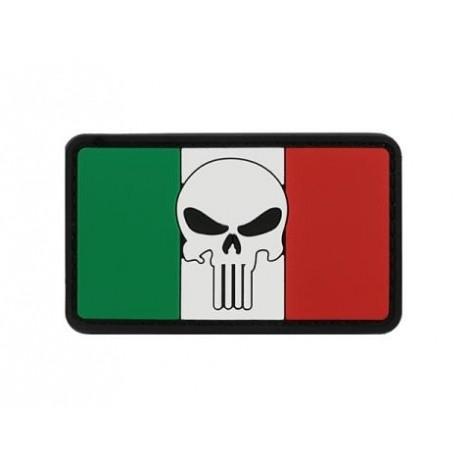 PATCH BANDIERA FLAG SKULL ITALIA PVC VELCRO PATCH -