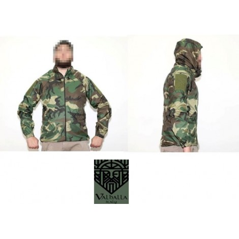 VHTac LEVEL 5 SOFT SHELL K-WAY IMPERMIABILE WOODLAND - Valhalla VHTac