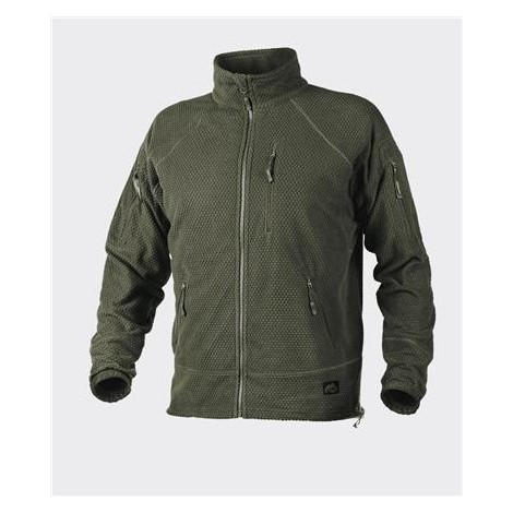 HELIKON ALPHA TACTICAL JACKET - GRID FLEECE - VERDE OD - HELIKON