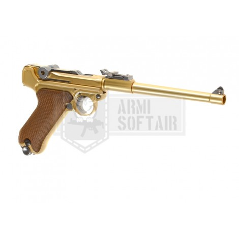 "WE P08 GBB GAS BLOWBACK METAL 8"" ORO GOLD - WE"
