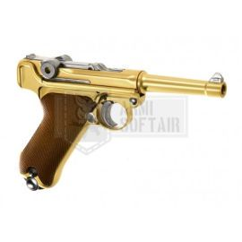 WE P08 GBB GAS BLOWBACK METAL SHORT ORO GOLD - WE