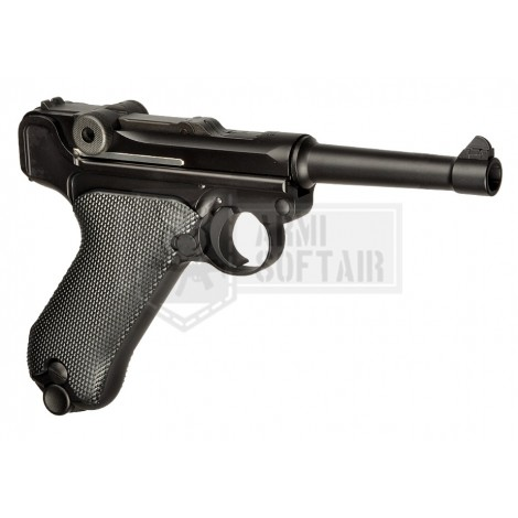 WE P08 GBB GAS BLOWBACK METAL SHORT NERA BLACK - WE