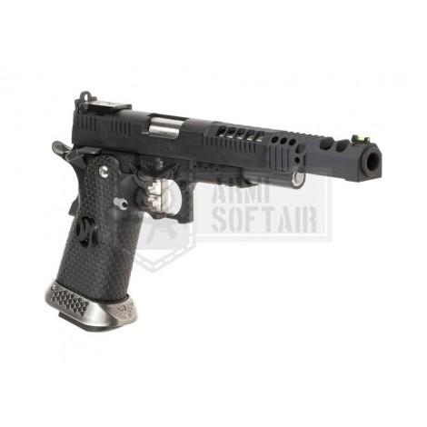 AW HX2402 38 SuperComp Race Pistol GBB GAS FULL METAL NERA BLACK - AW CUSTOM