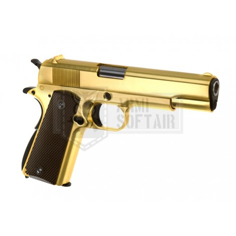 WE M1911 GBB GAS BLOWBACK METAL ORO GOLD - WE