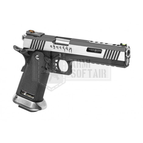 WE Hi-Capa 6 Force A GBB GAS BLOWBACK METAL ARGENTO CANNA ARGENTO - WE