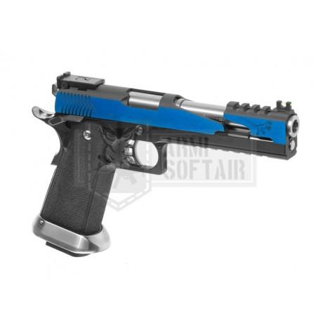 WE Hi-Capa 6 T-Rex Custom GBB GAS BLOWBACK METAL BLU BLUE - WE
