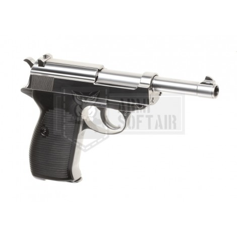 WE P38 GBB GAS BLOWBACK METAL ARGENTO SILVER - WE